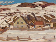 Lawrence North Shore x Oil on panel (April David Milne, Clarence Gagnon, Franklin Carmichael, Tom Thomson, Emily Carr, Famous Portraits, Group Of Seven, Wood Engraving
