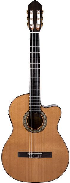 Lucero LC235SCE Acoustic-Electric Classical Guitar. This new acoustic-electric classical guitar adds to the company's expanding line of nylon string instruments, many of which carry mid-tier specs at entry-level price points, including the new LC235SCE.