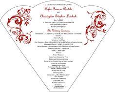 Cute wedding programs