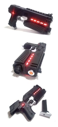 Judge Dredd's Lawgiver gun - by MovieGunsInc on etsy - based on firearm in the 1995 movie Judge Dredd