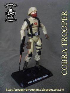 Gi joe Custom Action Figures: Cobra Trooper - Desert Ops