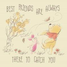Best friends are always there to catch you - Winnie the Pooh #Hallmark #HallmarkNL #vriendschap #friends #bff #bestfriends #winniethepooh #winniedepoeh