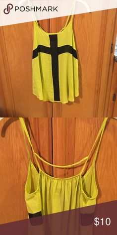 Love Audrey cute tank Size small lime colored boutique tank.  Good condition. Love Audrey Tops Tank Tops