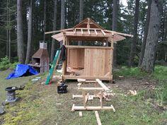 Teahouse construction on Bainbridge Island WA.  My future studio