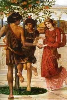 John Melhuish Strudwick - detail: Love's Music, a triptych