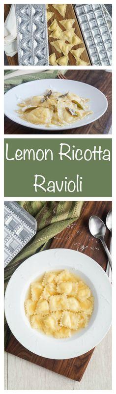 Lemon Ricotta Ravioli, homemade  ravioli is fun and easy, plus learn to use three ravioli attachments
