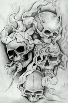 All About Art Tattoo Studio Rangiora. 03 310 - All About Art Tattoo Studio Rangiora. 03 310 6669 or 022 125 7761 - Evil Skull Tattoo, Skull Sleeve Tattoos, Skull Tattoo Design, Tattoo Design Drawings, Body Art Tattoos, Ear Tattoos, Wing Tattoos, Celtic Tattoos, Skull Drawings