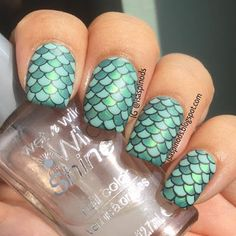 Little Fairy: Reto de Colores: Verde - Mermaid Stamping Decals