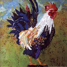 paper collage rooster