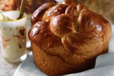 A cross between brioche and challah, this bread (called kulich) is a lightly sweetened, egg-glazed cylinder, often baked in a coffee can to make a tall loaf. The kulich would sit proudly in the center of the family Easter basket, surrounded by meats, cheeses, butter, and eggs. It's a central part of the Easter meal, served with sweet paskha cheese or unsalted butter.