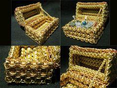 Chainmaille Treasure Chest Details by ChainedBeauty.deviantart.com on @DeviantArt
