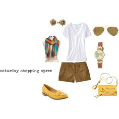 saturday shopping spree, created by julieelesa on Polyvore