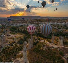 トルコ・カッパドキアと気球 (画像) : ひろぶろ