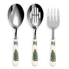 Spode® Christmas Tree 3-Piece Cutlery Serving Set