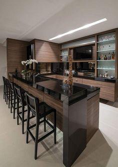 Foto de balcão de cozinha moderna