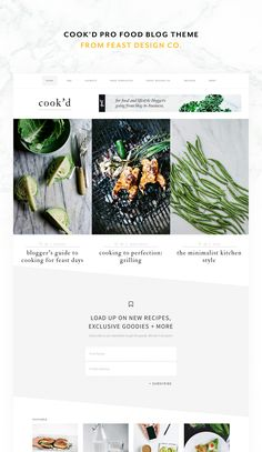 Welcome to Cook'd, a responsive minimalist WordPress theme brought to you by the makers of Foodie Pro. This theme comes packaged with features like a large hero area for featured posts, widgetized home page, recipe filter index, grid archives, strategic areas for ads and opt-ins, logo uploader, and more. Use shortcodes to show limited categories and likes for each post! This theme is designed to help your content work for you while maintaining an alluring minimal style.  live demo
