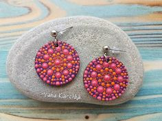 3D hand painted mandala earrings by @yana_kaechka Check out this item in my Etsy shop https://www.etsy.com/listing/559518001/free-shipping-3d-hand-painted-wooden #mandalartKaechka #mandalaearrings #bohoearrings