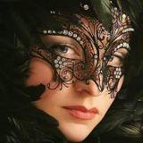 zwart, kant, masket
