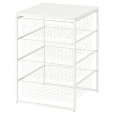 JONAXEL Frame/wire baskets/top shelf, 19 It can be difficult to keep things neat and tidy. JONAXEL storage system lets you utilize the spaces you have in smarter ways. Basket Drawers, Chest Of Drawers, Ikea Drawers, Neat And Tidy, Tidy Up, Deco Turquoise, Dressing Ikea, Ikea Family, Packaging