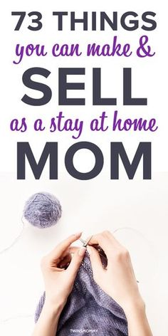 Easy things you can make and sell as a stay at home mom. Learn how to knit, make crafts, paint crafts and sell them online or on social media. crafts to sell easy 87 Crafts You Can Make and Sell as a Stay at Home Mom - Twins Mommy Money Making Crafts, Easy Crafts To Sell, Sell Diy, Diy Tumblr, Stay At Home Mom, Work From Home Moms, Sewing Crafts, Sewing Projects, Diy Crafts