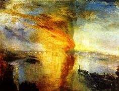 The Athenaeum - The Burning of the Houses of Lords and Commons, October 16, 1834 (Joseph Mallord William Turner - )