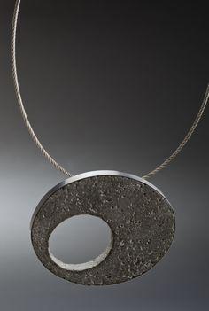 Concrete Pendant Concrete, Marble, Sculpture, Jewellery, Studio, Diamond, Pendant, Jewelery, Jewlery