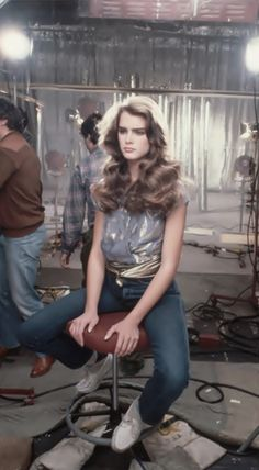 Brooke Shields on the set of her first Wella Balsam commercial, 1980. Photo by Lynn Goldsmith. This is the hair we all want!