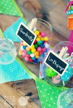 Chalkboard clips. Perfect for your parties!