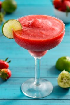 Easy Frozen Strawberry Daiquiri Recipe - How to Make a Strawberry Daiquiri