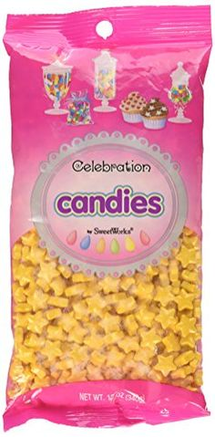 Celebrations By SweetWorks Sweet Shapes(TM) Shimmer (TM) Gold Stars - Kitchen Appliances Lists Products Candy Centerpieces, Candy Decorations, Customer Appreciation Day, Star Cupcakes, Baking School, Edible Glitter, Dessert Buffet, Chocolate Covered Oreos, Twinkle Twinkle Little Star
