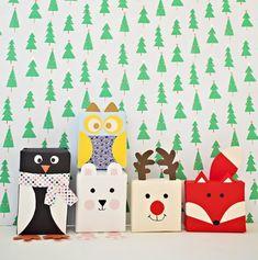 Kreative Geschenkverpackung Tiere