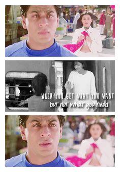 KKHH Shahrukh Khan Family, Shahrukh Khan And Kajol, Shah Rukh Khan Movies, Kuch Kuch Hota Hai, Famous Dialogues, Bollywood Quotes, Vintage Bollywood, Anime Love Couple, Tv Quotes