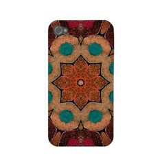 Vintage abstract pattern iphone 4 cases