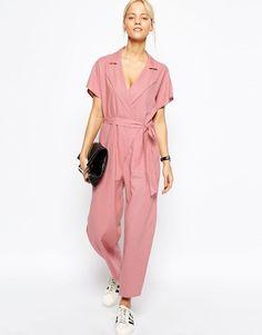 asos wrap jumpsuit in linen - Google Search