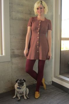 A pug adds to any outfit.