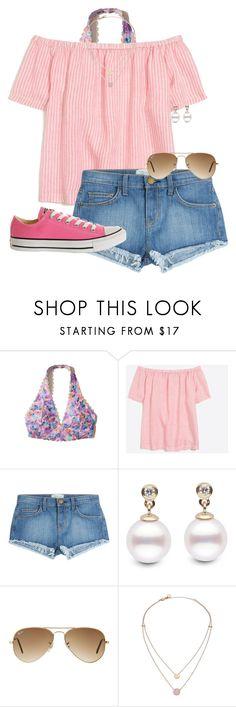 """~born to be a unicorn~"" by auburnlady ❤ liked on Polyvore featuring Hollister Co., J.Crew, Current/Elliott, Ray-Ban, Michael Kors and Converse"