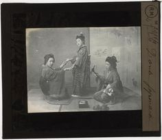 [Plaque de verre du fonds Colbert | EHNE] Danse japonaise
