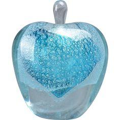Blue Heart Murano Style Art Glass Perfume Bottle MMW 97