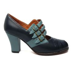 A peep-toe version of the Amelia, Aviator is an early reproduction with triple arch straps, antiqued roller buckles, and intricate vamp stitching details. Leather uppers with leather soles 2 ⅞ Women's Shoes Sandals, Shoe Boots, Flats, Shoes Sneakers, Shoe Shoe, Women's Boots, Dress Shoes, Fashion Heels, Dance Fashion