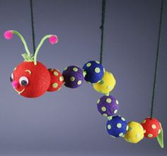 Wiggly Worm Marionette Who isn't fascinated by the antics of an inchworm? This Wiggly Worm glides along with easy-to-maneuver marionette strings. A great rainy day project - cheerful colors interesting shapes and lots of hands-on activity mean fun! Crafts For Boys, Family Crafts, Craft Projects For Kids, Crafts To Make, Fun Crafts, Art For Kids, Arts And Crafts, Party Crafts, Craft Ideas