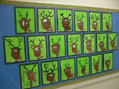 Christmas art ideas, holiday art lesson, reindeer art lesson, holiday bulletin boards, how to draw a reindeer Classroom Art Projects, School Art Projects, Art Classroom, Projects For Kids, Crafts For Kids, Christmas Art Projects, Winter Art Projects, Kids Christmas, Holiday Crafts