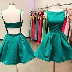 Cute A Line Green Short Prom Dress,2017 Homecoming Dress,Green Party Dress,Homecoming Dresses