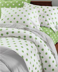 Dot to Dot Percale Bedding.... So cute for Paisley