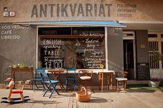 Libresso Pod Vŕškom - café & antikvariát Nitra Maybe One Day, Coffee Shop, Table, Places, Inspiration, Country, Breakfast, Vintage, Ideas