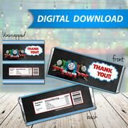 Thomas The Train Candy Bar Wrappers, Hershey Bar Wrappers, party favor - PRINTABLE INSTANT DOWNLOAD
