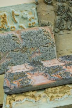William Morris Woodblocks for wallpaper print from Hannah Nunn