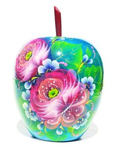 Blue Apple keepsake wooden box was hand painted in Russia.  It has large enough room to keep your stuff safe inside. The box makes a great gift, too
