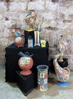 """Laborna"" workshop (Spain). 2017 Argilla. Aubagne. France. International pottery fair. Refractory clay and sandstone. Vessel."
