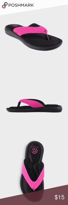 c701898fb Girls  Memory Foam Flip Flop Sandals Champion® Add some comfy color to her  daily