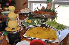 Cheese Fountain Dipping Station